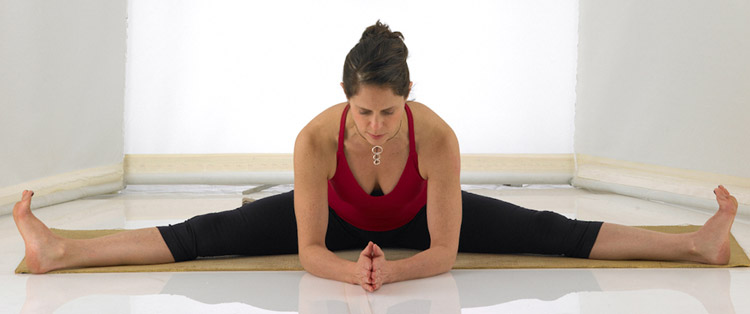 Wide Angle Seated Forward Bend Pose