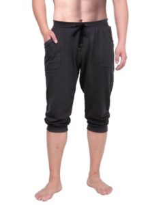 HDE Men's ¾ Men's Yoga Capri Pants