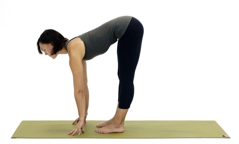 Upward Forward Fold Pose