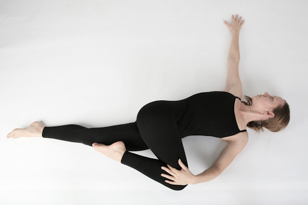 Supine Spinal Twist Yoga Pose I